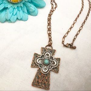 Jewelry - Beautiful Fashion Copper Turquoise Cross